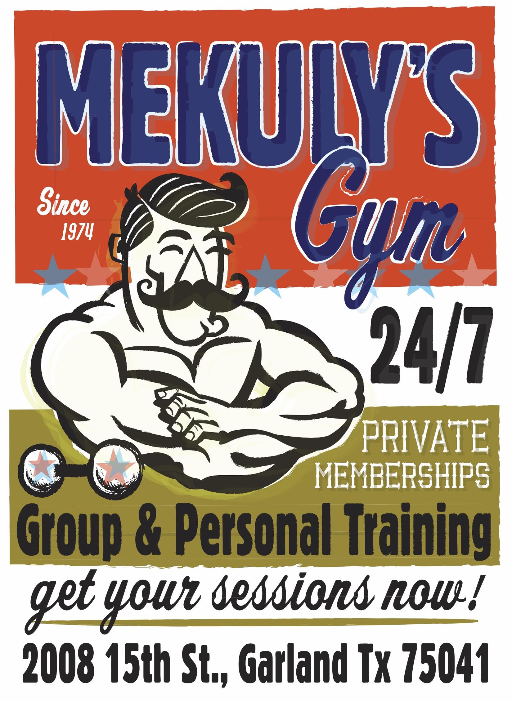 Mekuly's Gym Flier